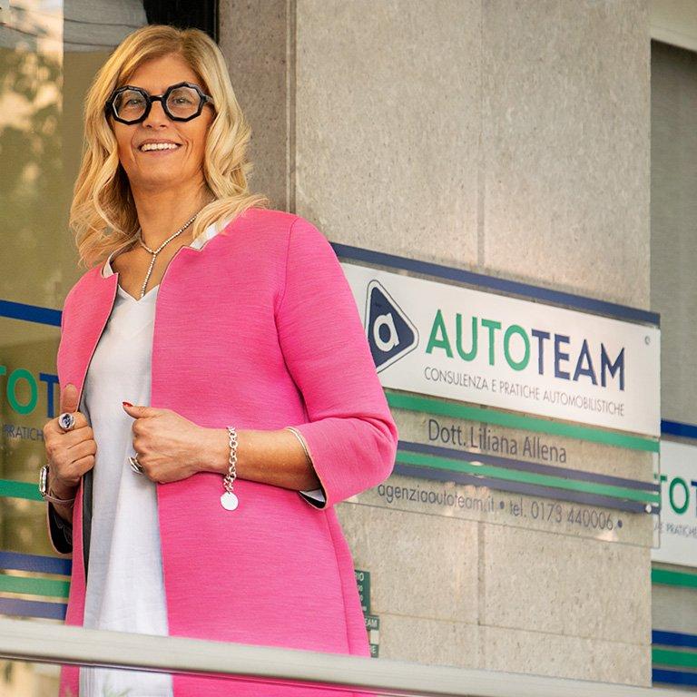 Liliana Allena, Agenzia Autoteam Alba